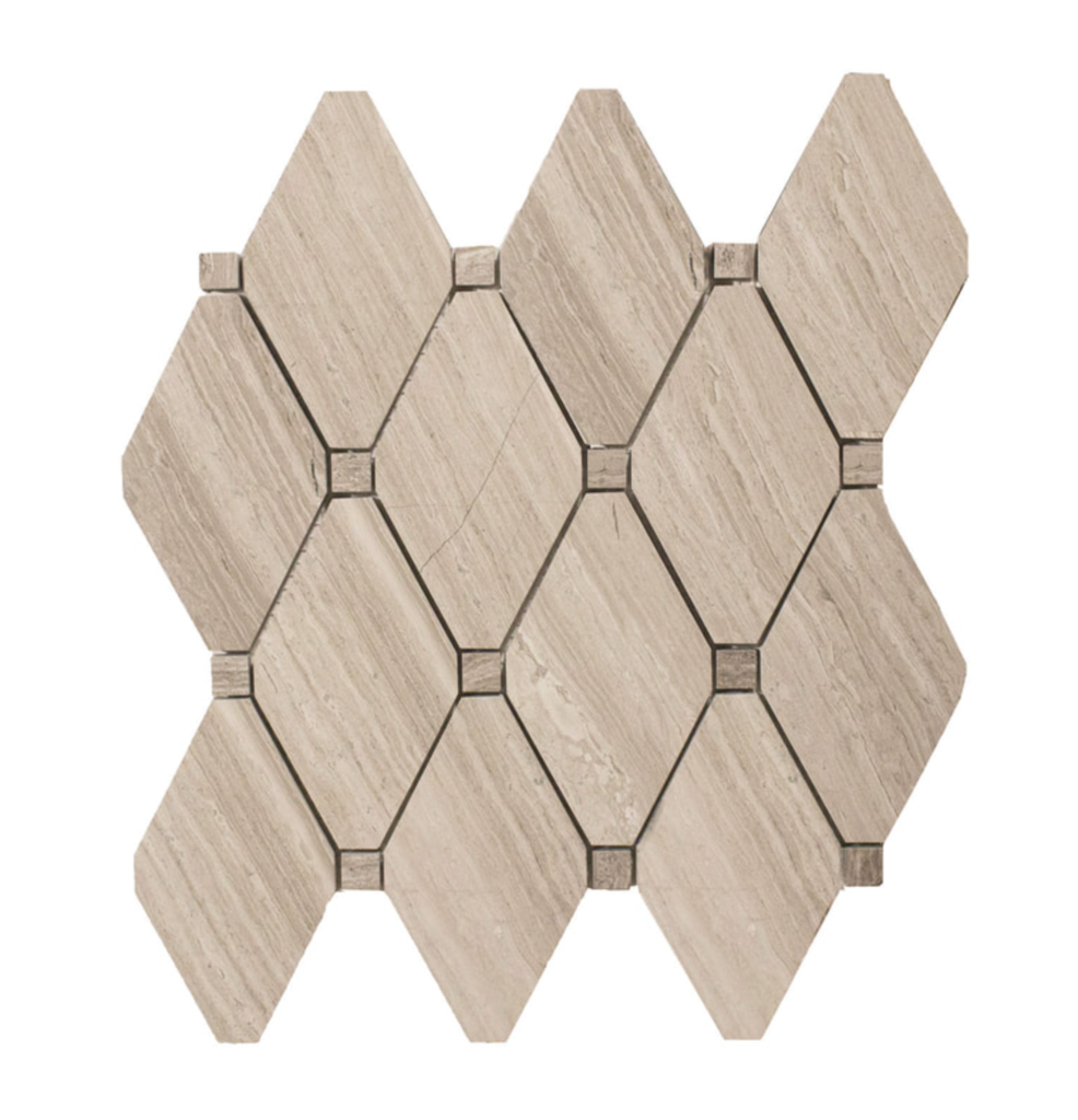 Oak Marble Mosaic Tile Honed 5 Diamonds In 2020 Marble Mosaic Marble Mosaic Tiles Mosaic Tiles