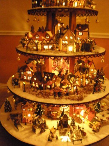 Dept. 56 Lemax Holiday Village House Display - Snowbabies Christmas ...