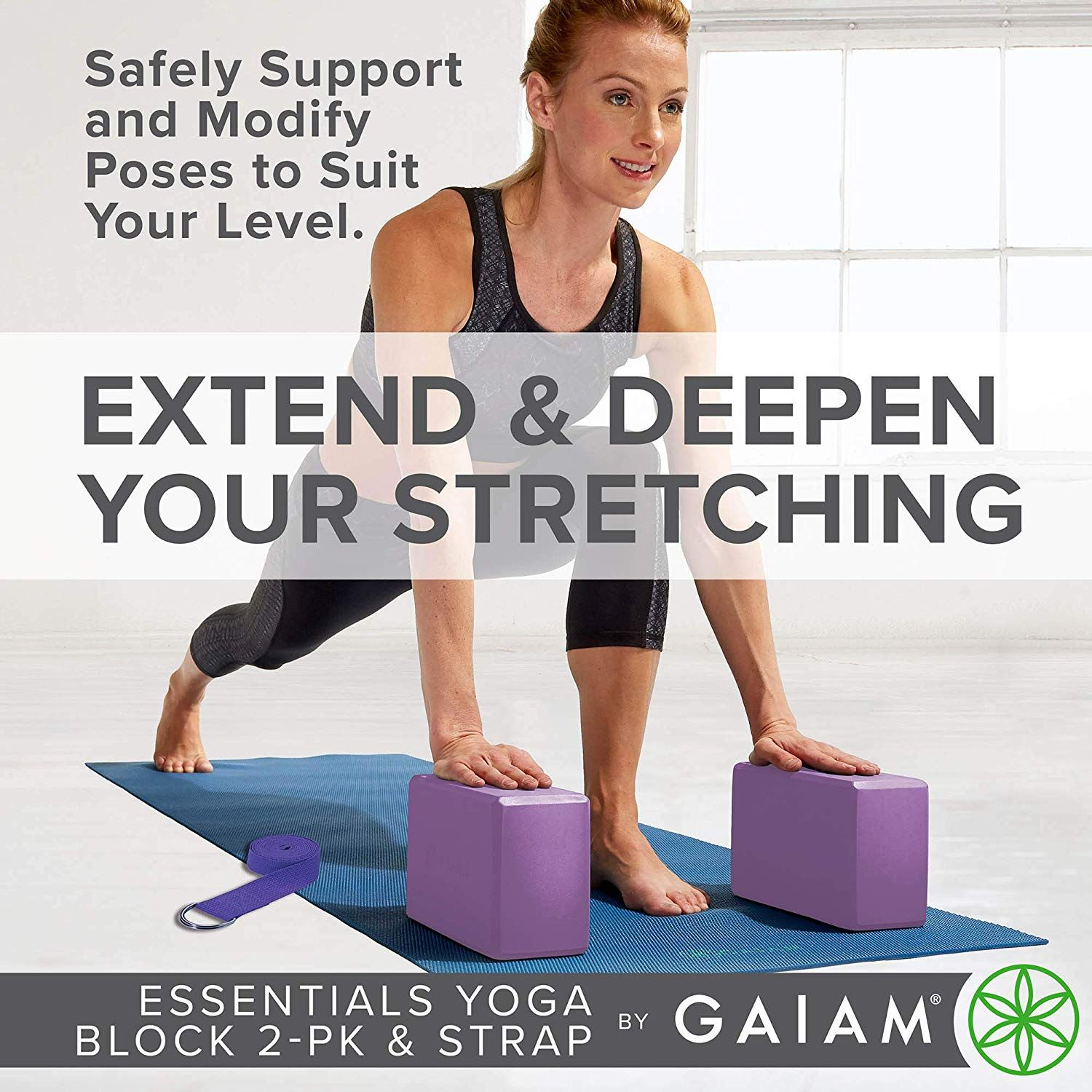 Gaiam Essentials Yoga Block 2 Pack And Yoga Strap Set Learn More By Visiting The Image Link This Is An Affiliate Link Essential Yoga Yoga Block Yoga Strap