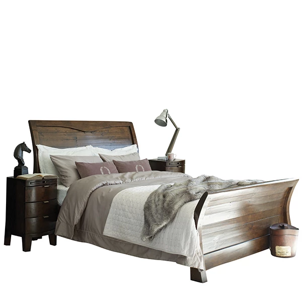 Winchester Reclaimed Wood Bed Wooden Bed Contemporary Bedroom Furniture Rustic Wooden Bed