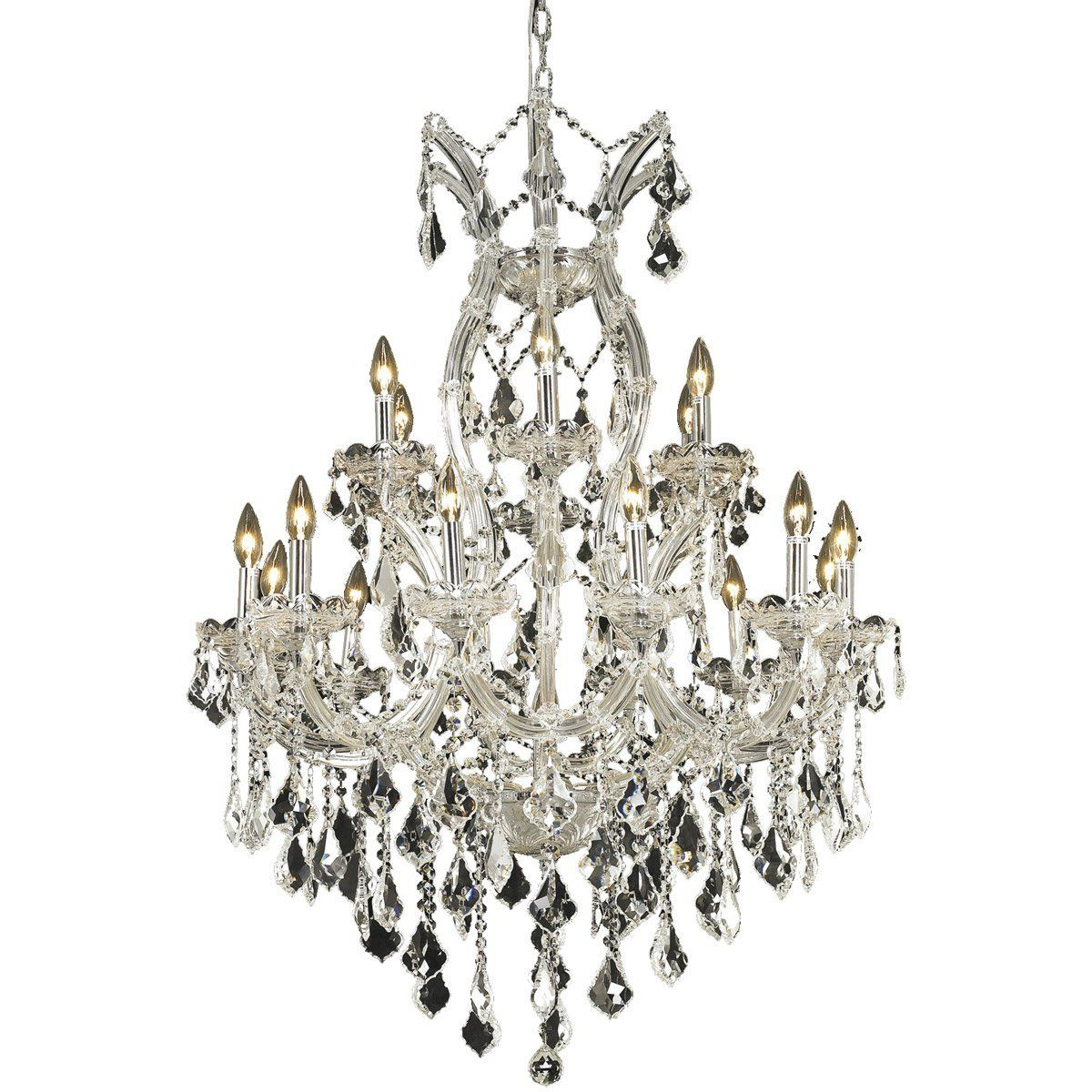 Maria theresa 32 crystal chandelier with 19 lights chrome finish maria theresa 32 maria theresa 32 crystal chandelier arubaitofo Gallery