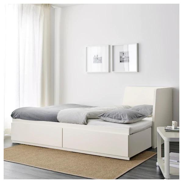 Flekke Bedbank Met 2 Lades Wit 80x200 Cm Ikea Lit Gigogne 2 Places Lit Banquette 2 Places Lit Double Enfant