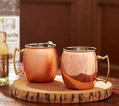 Copper Moscow Mule Mug, Set of 2 #potterybarn