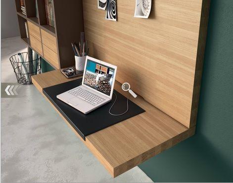 Hulsta bureau wand met boekenkast lade met kabelgoot. kleur