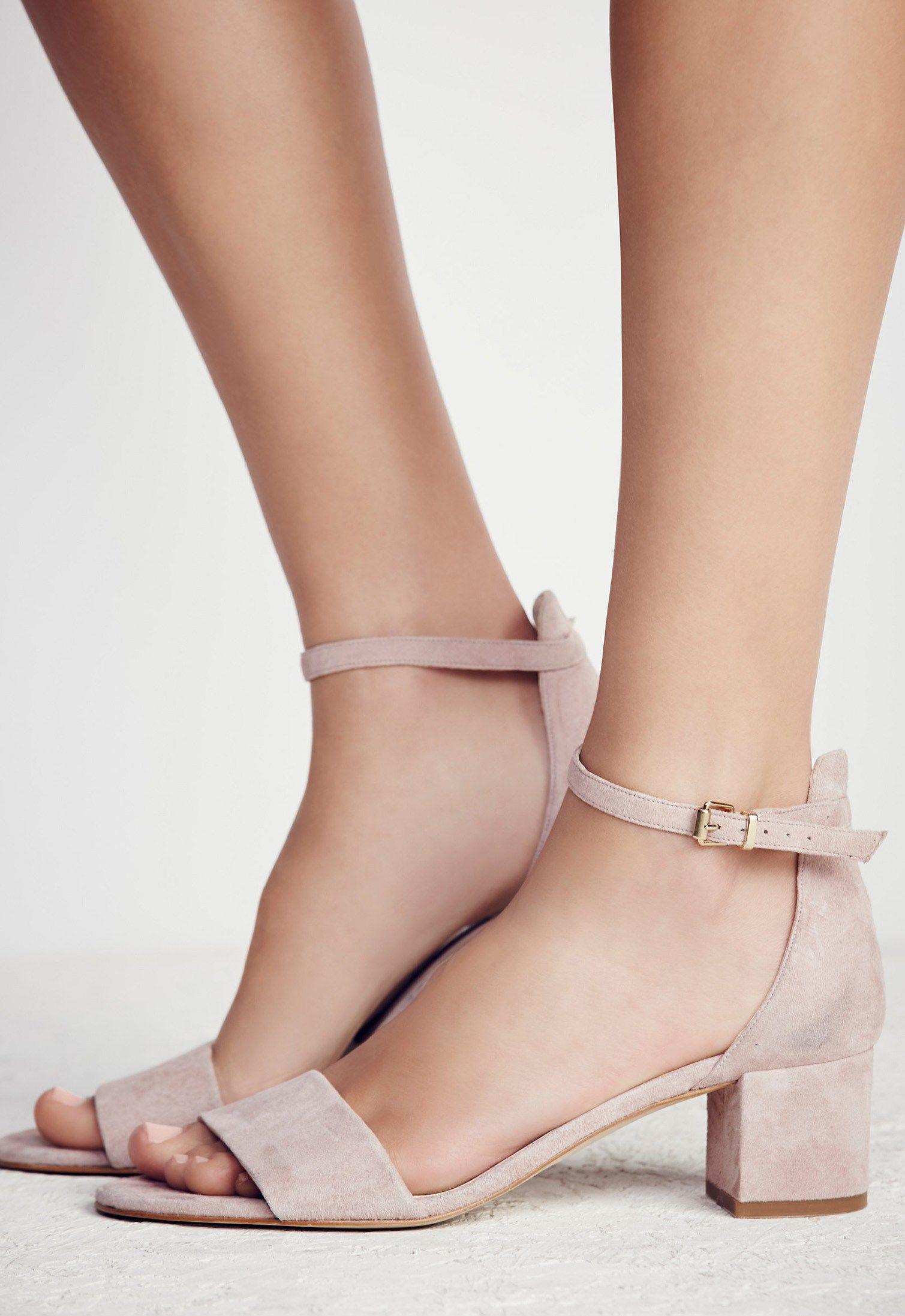 ec12afe9774 Marigold Block Heel in Blush by Free People    Made from beautiful Spanish  craftsmanship