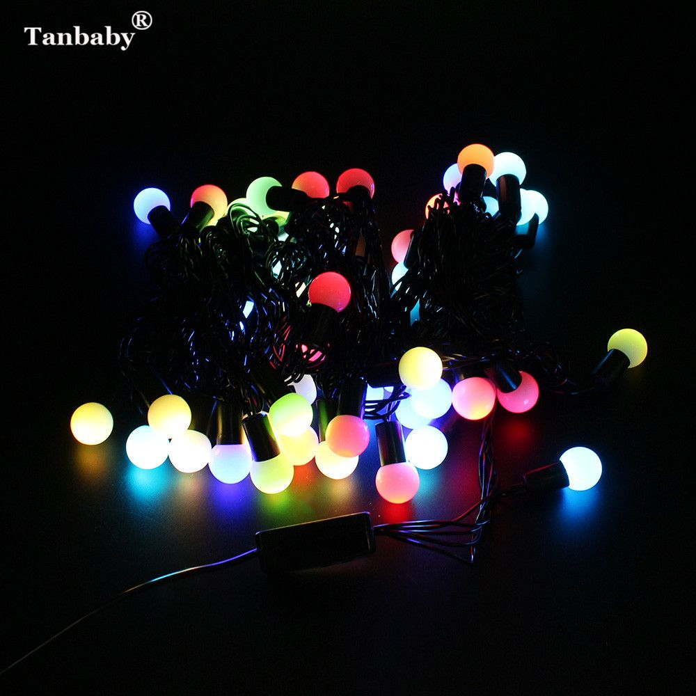 Tanbaby waterproof globe starry fairy string lights m led