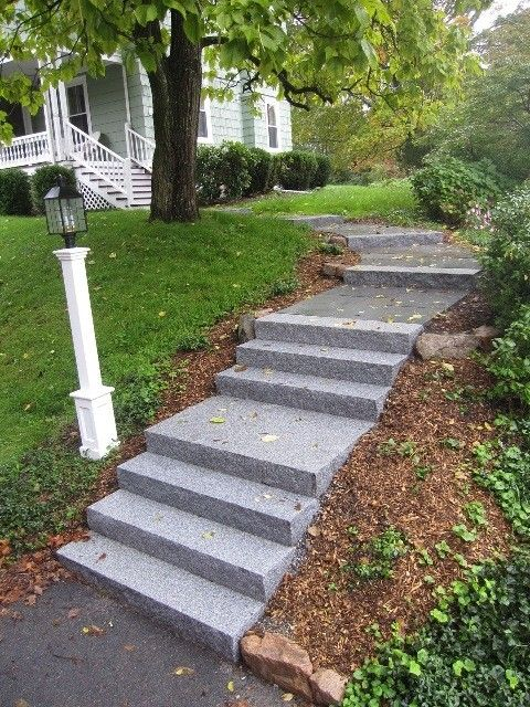 yard path uphill - Google Search | Outdoor stairs ... on Uphill Backyard Landscaping Ideas id=45029
