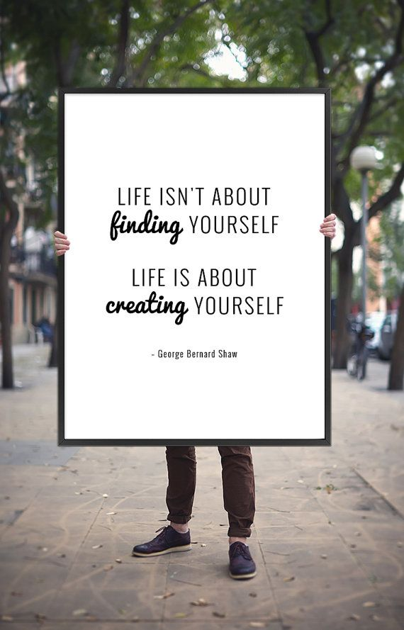 Motivational Life Quote Printable Poster – George Bernard Shaw Quote, Inspirational Art Decor Digital Print Wall Saying *INSTANT DOWNLOAD*