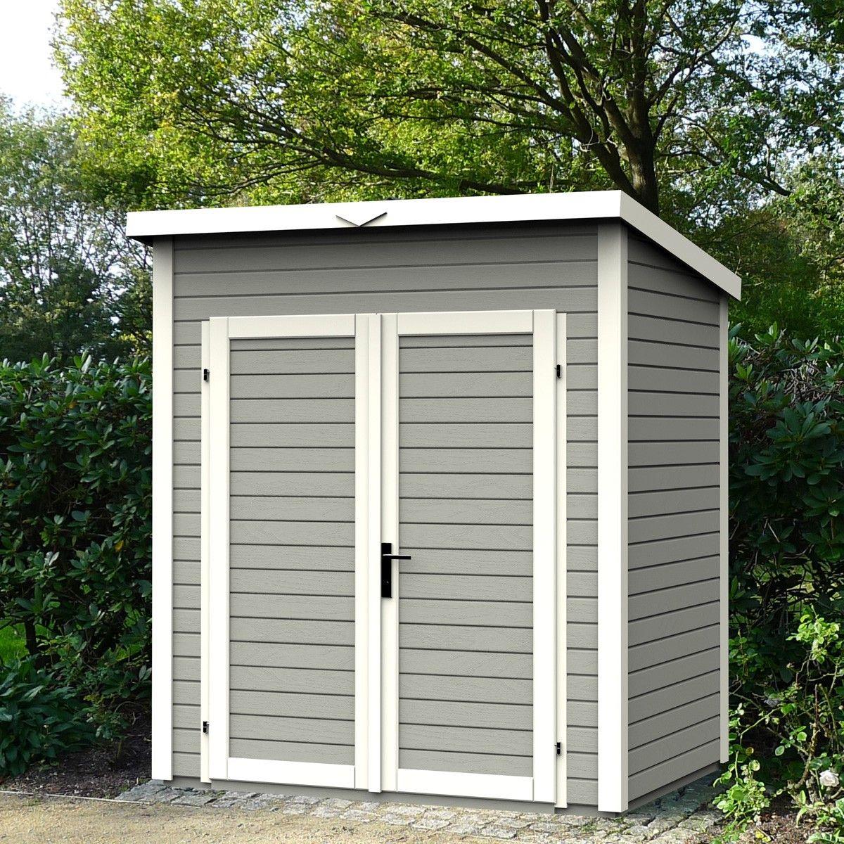 Abri de jardin skur1 1 75x1 20x2 33 coloris gris lekingstore prix 899 contactez nous au - Baraque de jardin ...