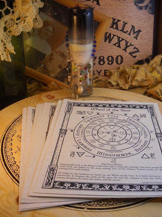 Hechizo de velas Blanco Oculto Ritual Wicca Pagano Bruja Magia Regalo Paquete