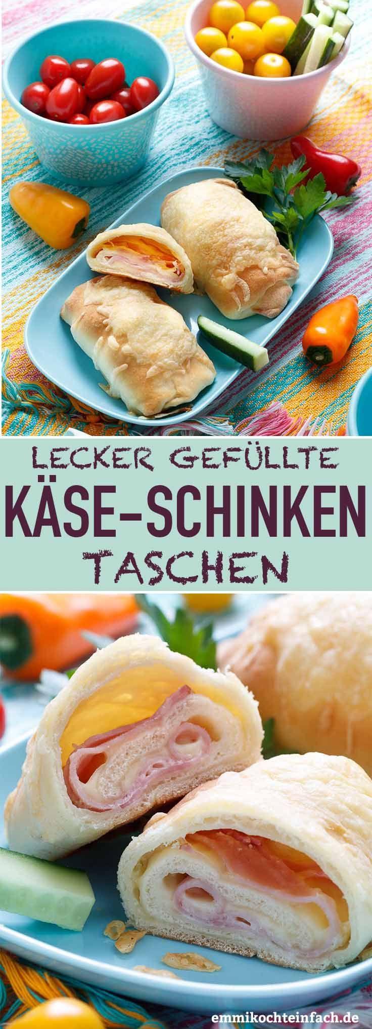 Gefüllte Käse Schinken Taschen - emmikochteinfach