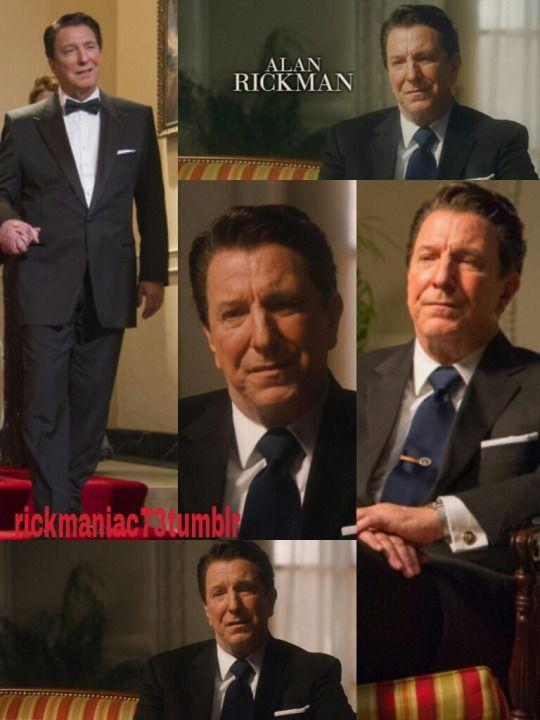 """2013 - Alan Rickman as Pres. Ronald Reagan in """"The Butler"""""""