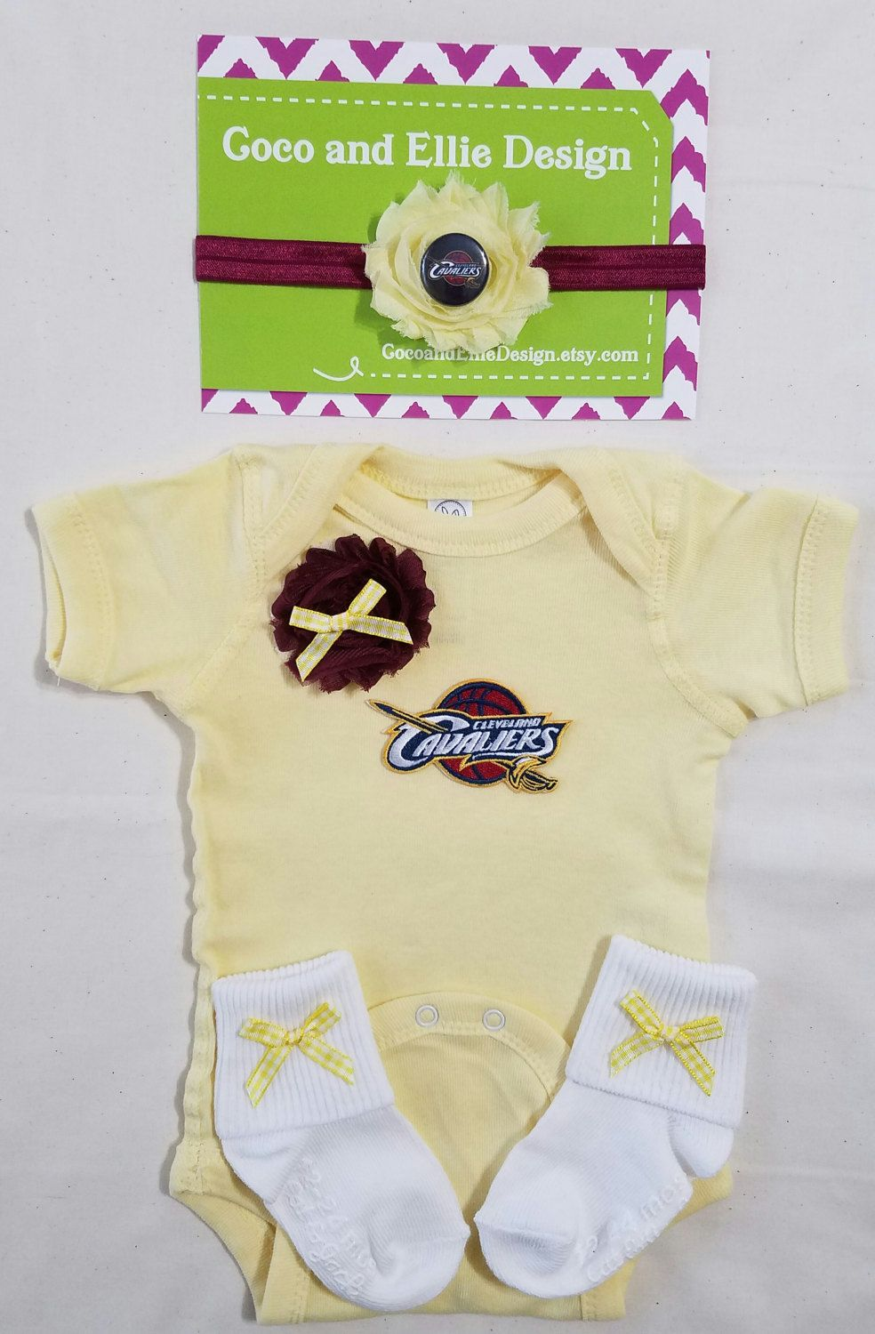 huge discount ad73c 136c5 NBA Cleveland Cavaliers onesie-Baby girl Cavaliers outfit ...