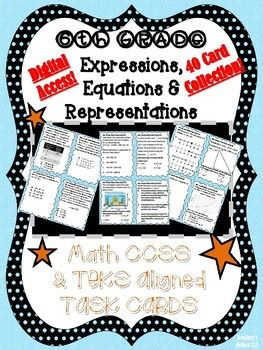 6th Grade CCSS/TEKS | ExpressionsEquations Math | 40 Task ...