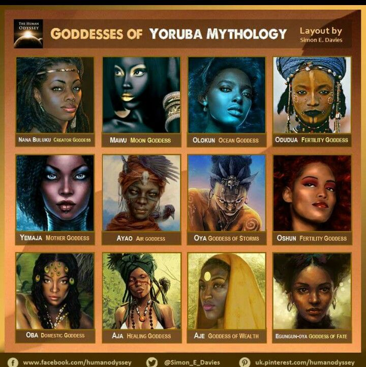 Mythology | Dieties | African mythology, Oshun goddess, African goddess