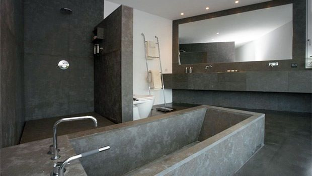 Badkamer Beton Interieur : Hou je van strak en modern dan is zo n badkamer wellicht iets