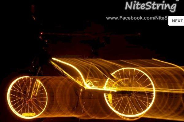 El Wire Bike Light   creative bicycle lighting   Pinterest