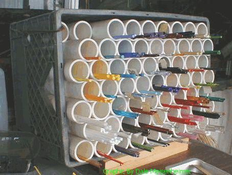 Lampworking Gl Rod Storage Pvc Pipe Organize Your Rods