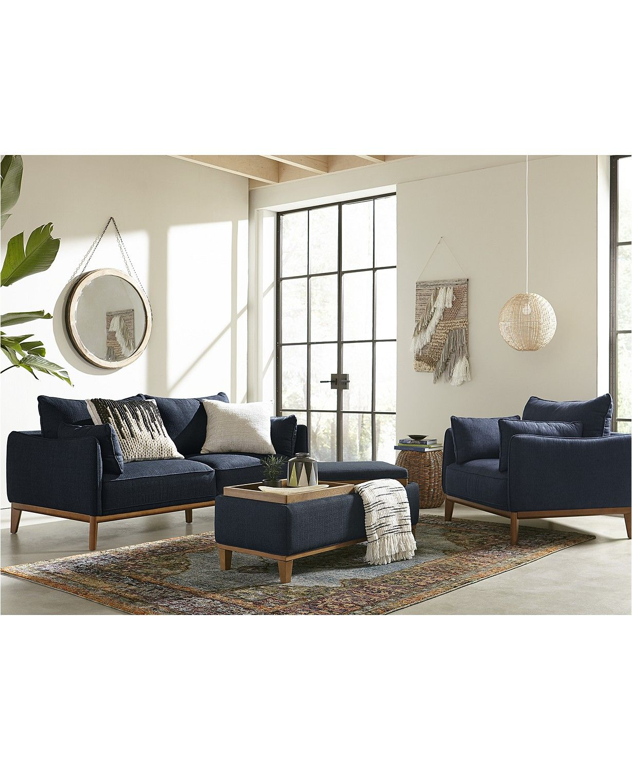 Superb Jollene Fabric Sectional And Sofa Collection Created For Pabps2019 Chair Design Images Pabps2019Com