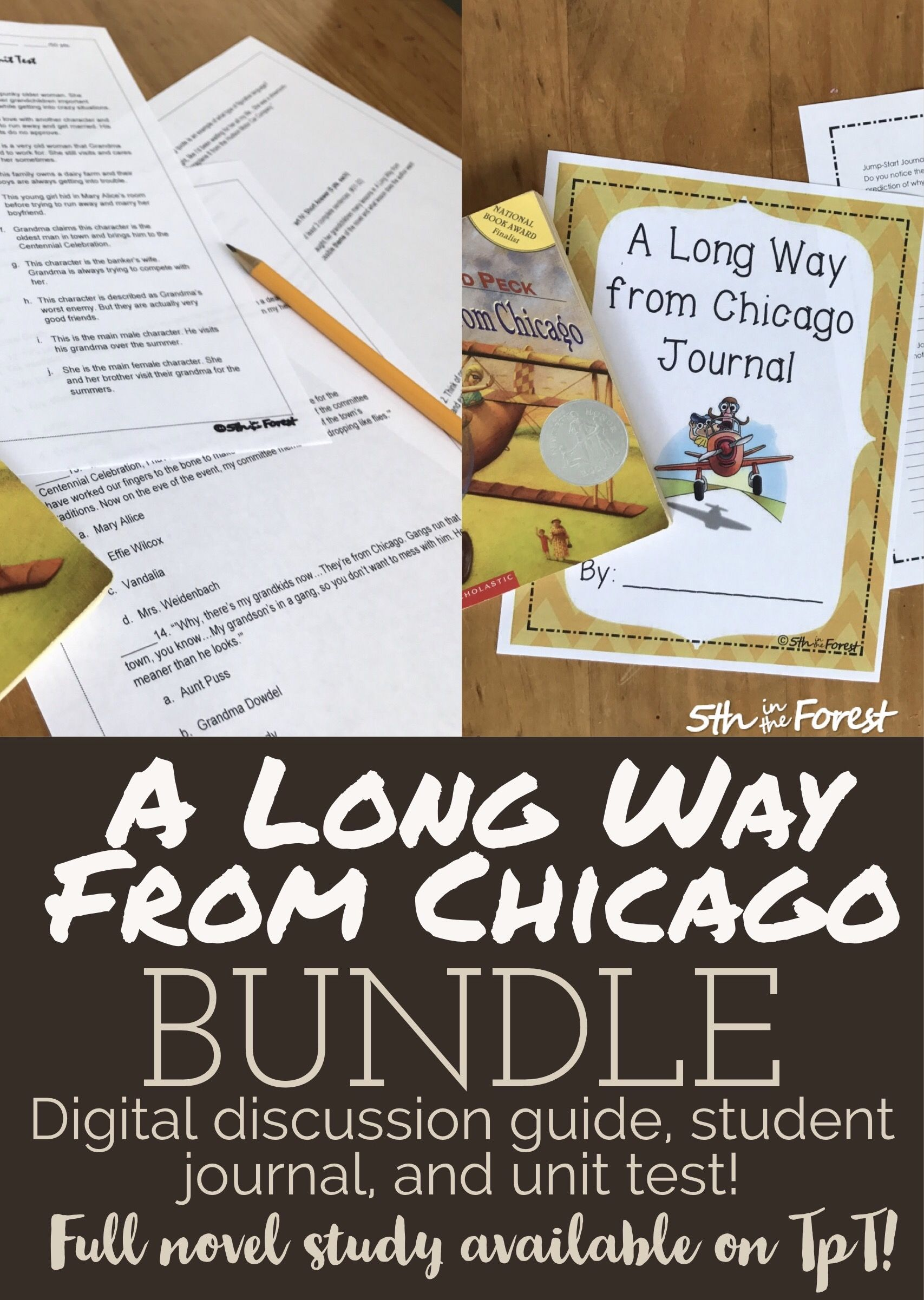 a long way from chicago novel study bundle discussion guide journal rh pinterest co uk Long Way From Chicago Grandma Long Way From Chicago Grandma