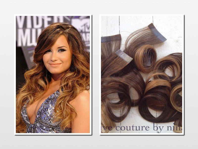 Ombre Tape Hair Extensionsbrunette Human Hair Extensionsreverse