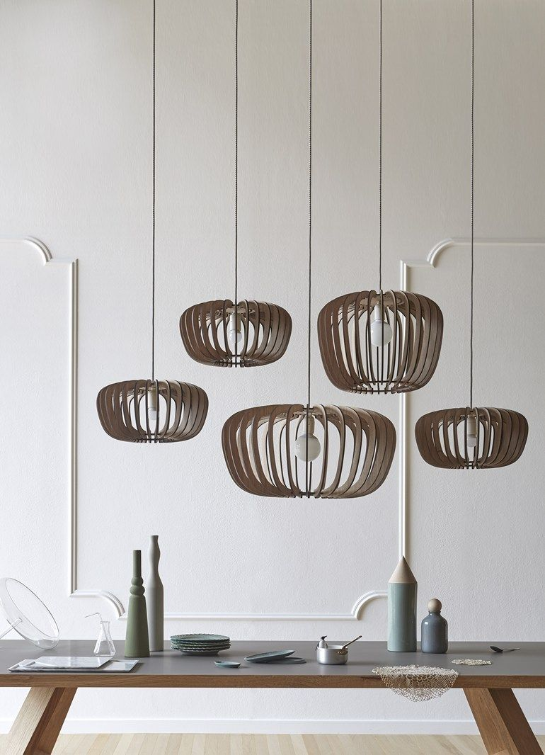 Coraline Iluminaç u00e3o Luminária de mdf, Pendentes de madeira e Luminária pendente