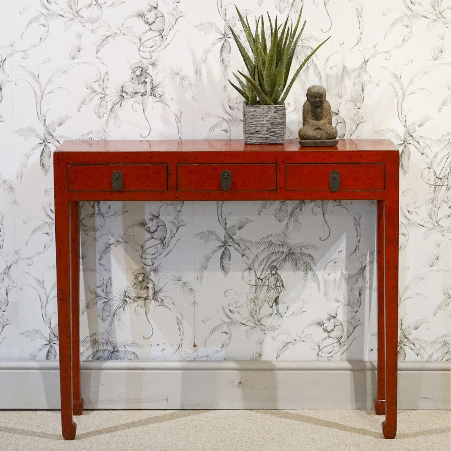Chinese Red Console Table In 2020 Red Console Table Console Table Narrow Console Table