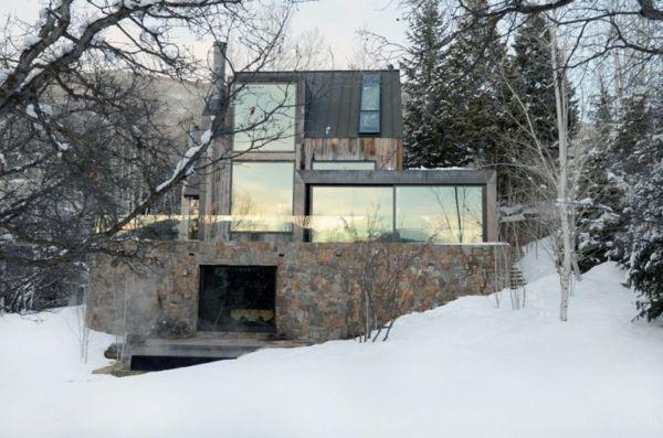 Fassadengestaltung stein  Rustikale Skihütte stein fassade | Photografie | Pinterest ...