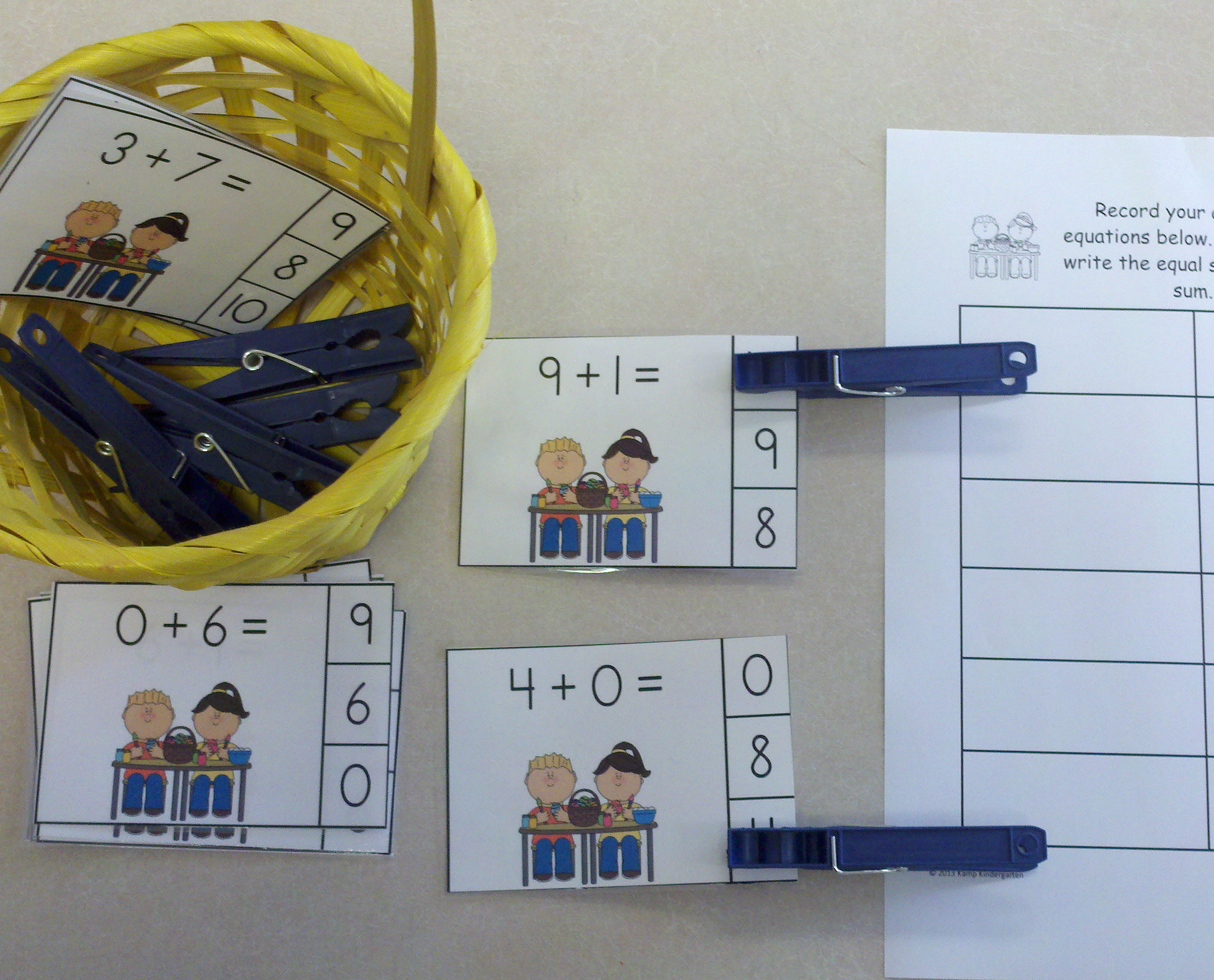 Easter Addition Practice Packet Sums To 10 With Images