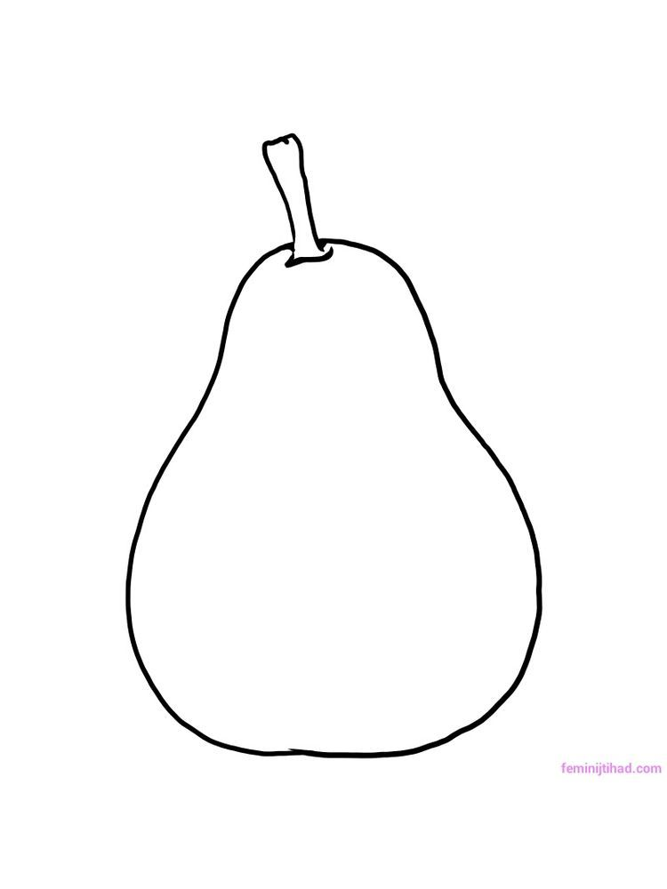 Pear Coloring Page Print Fruit Coloring Pages Coloring Pages
