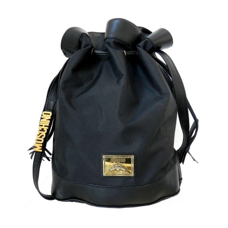 a16df789c60 Vintage 1990's Moschino Drawstring Bucket Bag Purse   teen stuff ...