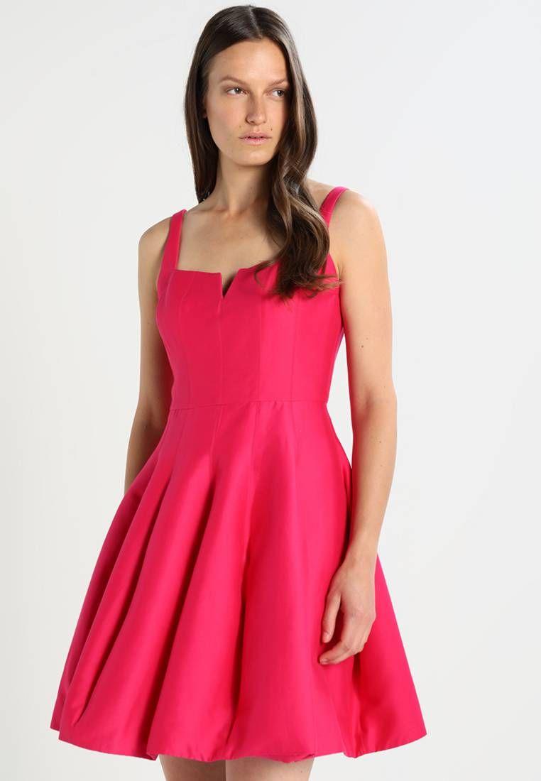 Vestiti Eleganti In Seta.Halston Heritage Vestito Elegante Fuchsia Rose Composizione 81