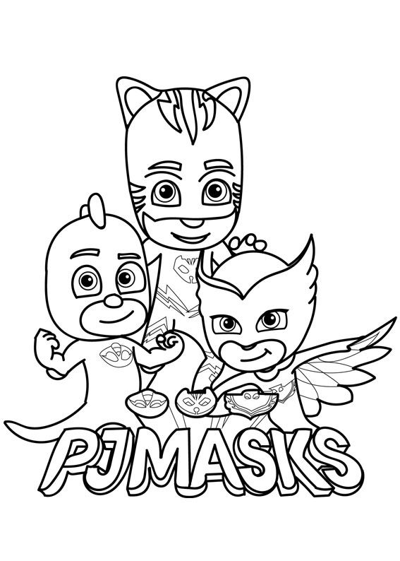 30 Disegni Dei Pj Masks Super Pigiamini Da Colorare Coloring For