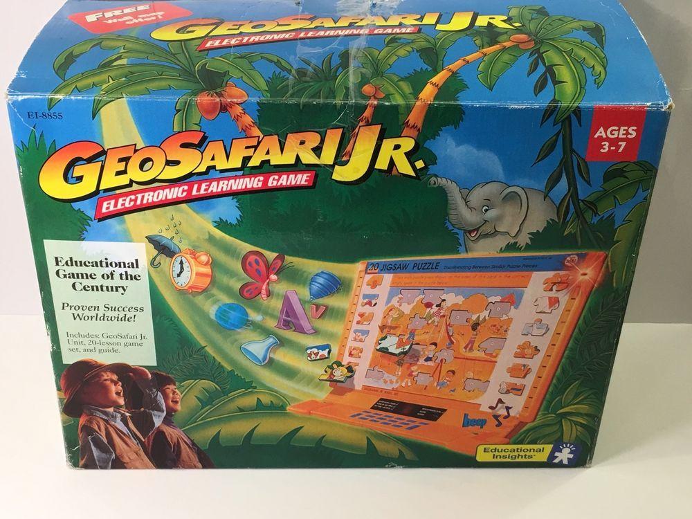 Working GeoSafari JR EI-8855 Electronic Learning Game +10 ...