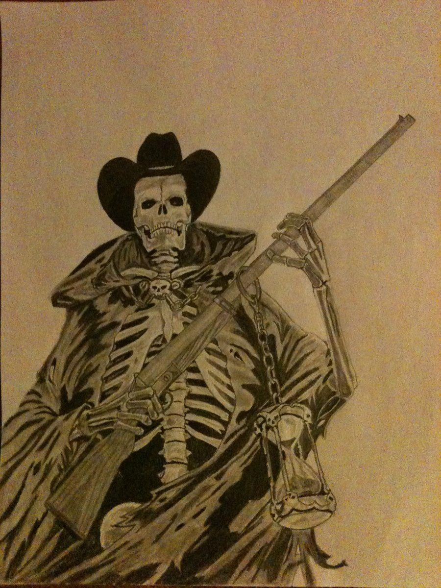 outlaw cowboy skeleton...