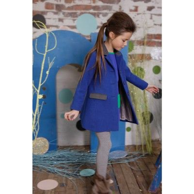Teddy Boy Coat - Blue - Coats & Jackets - Girls