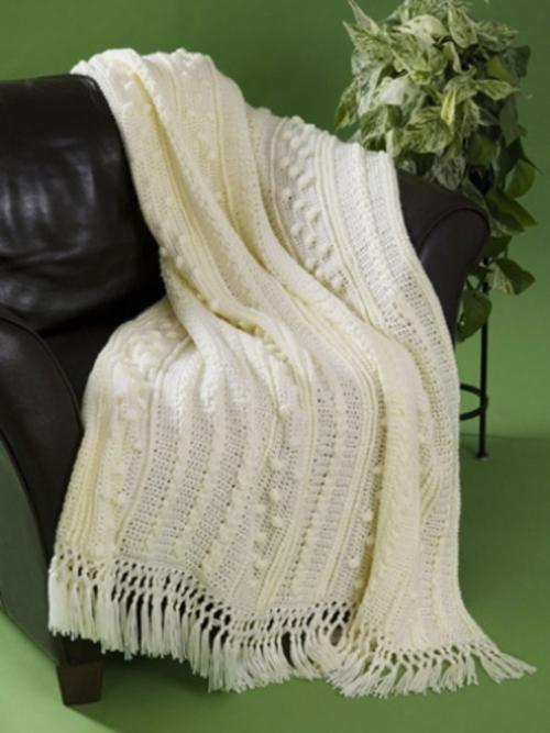 Simple Aran Crochet Afghan | AllFreeCrochetAfghanPatterns.com ...