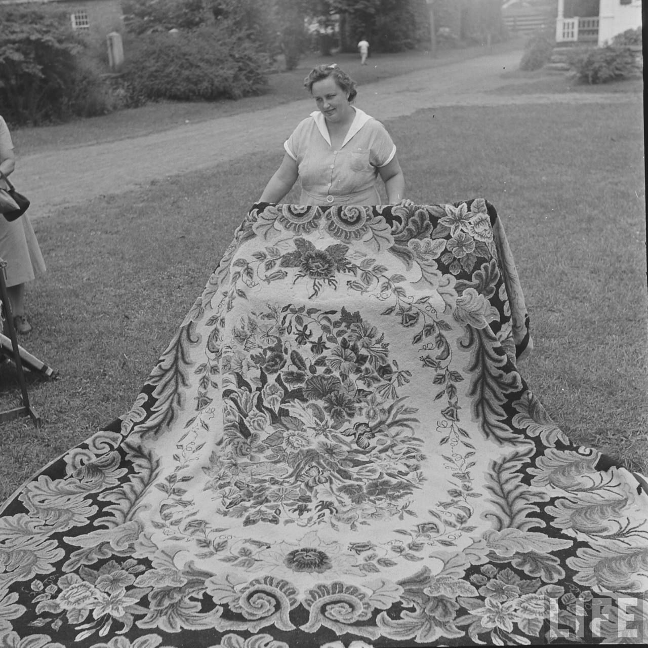 Picture From Life S 1951 Rug Hooking