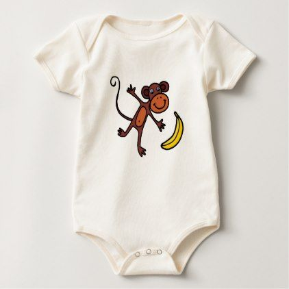 Little monkey kids cute cartoon with yellow banana baby bodysuit little monkey kids cute cartoon with yellow banana baby bodysuit kids kid child gift idea diy personalize design negle Gallery