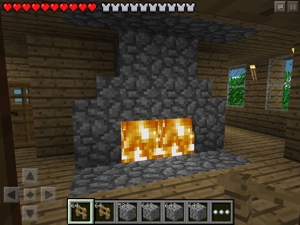 W2) Fireplace Minecraft PE | My Minecraft | Pinterest