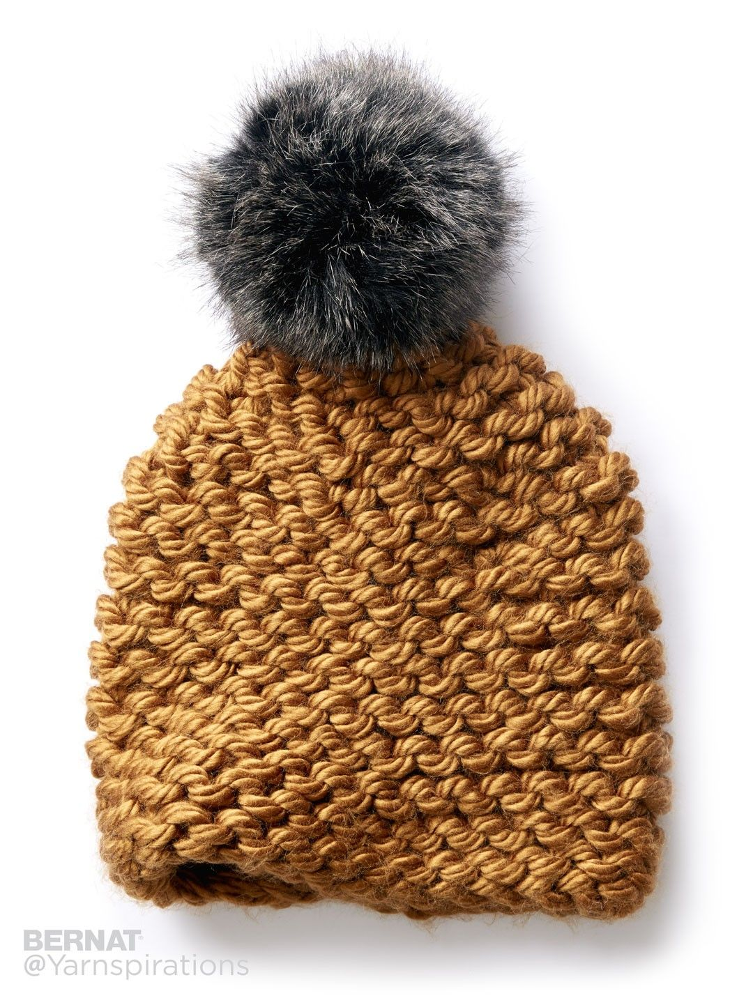 Garter Knit Hat - Free Pattern | Yarnspirations | DIY | Pinterest ...