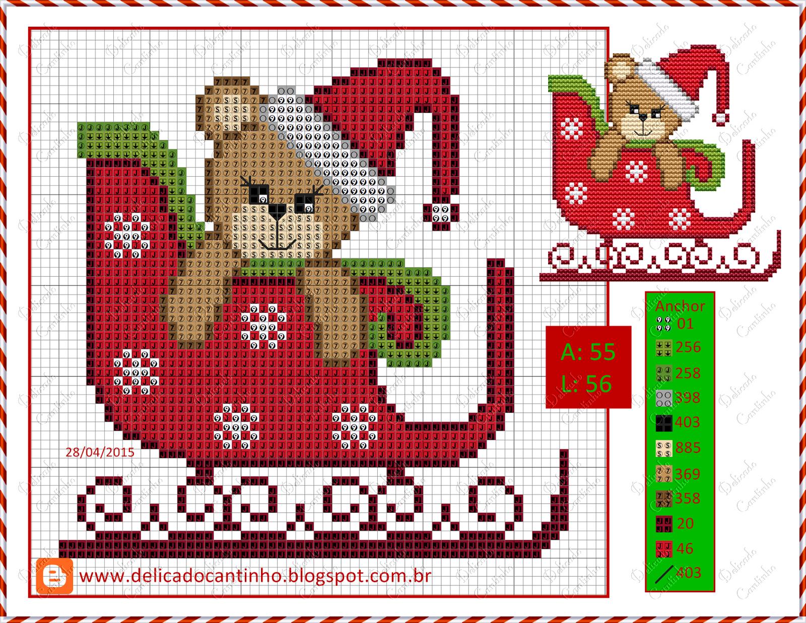 Pin de Emilie en broderie Noël | Pinterest | Puntos, Punto de cruz y ...