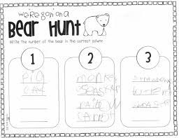 Image result for We're Going on a Bear Hunt worksheet