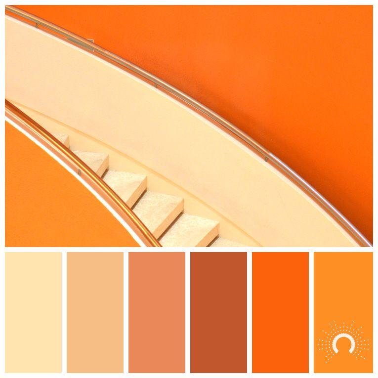Wandfarben Farbpalette Gelb: Color Palette, Color Combination, Farbpalette, Hue, Orange