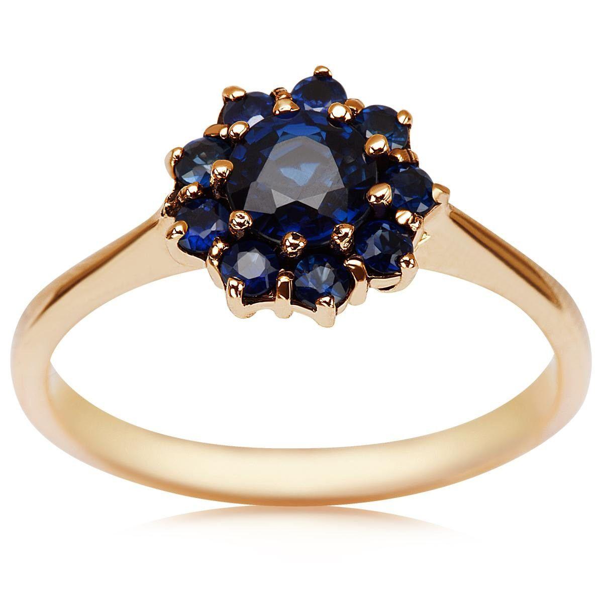 42ebae21770654 Kolekcja Wiktoriańska - pierścionek z szafirami (2328S - 52573) - YES