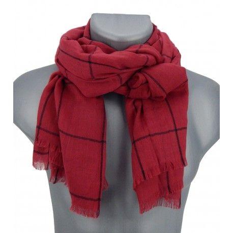 Eleganter Herrenschal rot schwarz by Ella Jonte #scarf #menscarf #menfashion