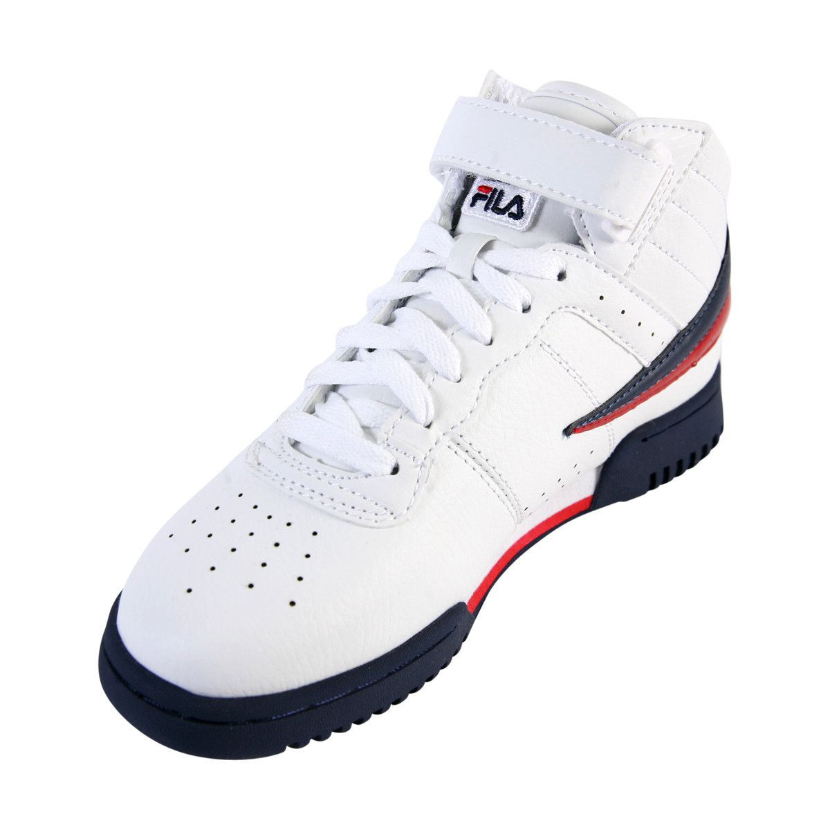 6a209afca2d4a Fila - Boy s F 13 Mid Sneakers - White Navy Red