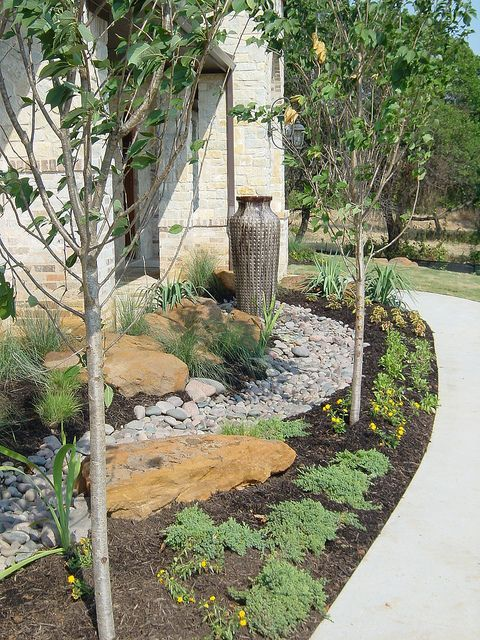 dallas flowerbed design addison texas landscaping front on beautiful front yard rock n flowers garden landscaping ideas how to create it id=26874