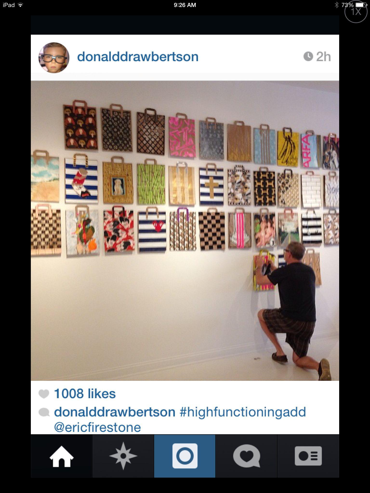 Donald Drawbertson Shopping Bag Installation Shopping Art Art Bag Art Education