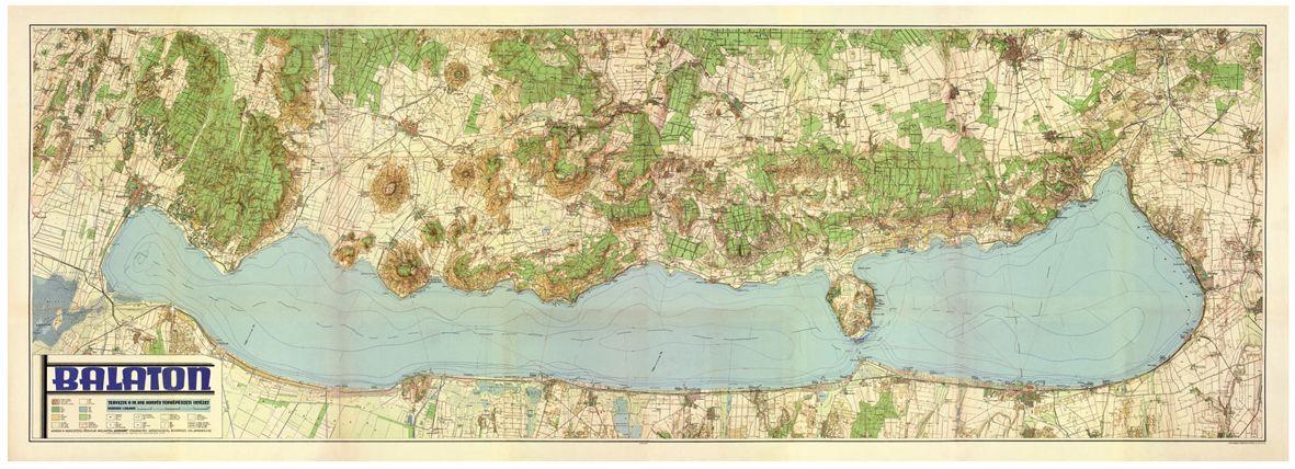 Balaton Terkep Map Vintage World Maps Diagram